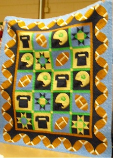 Quilt Dedicated to Football