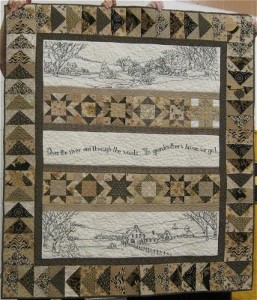 Brown Embroidery Quilt
